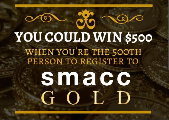 win $500   SMACC Sydney