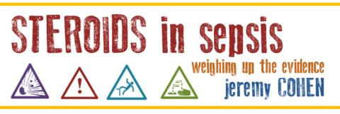 JEREMY COHEN: 'ROIDS IN SEPSIS