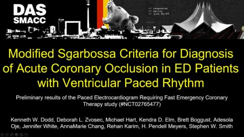 Modified Sgarbossa Criteria for Diagnosis of Acute Coronary Occlusion in ED Patients with Ventricular Paced Rhythm