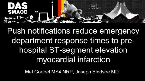 Push notifications reduce emergency department response